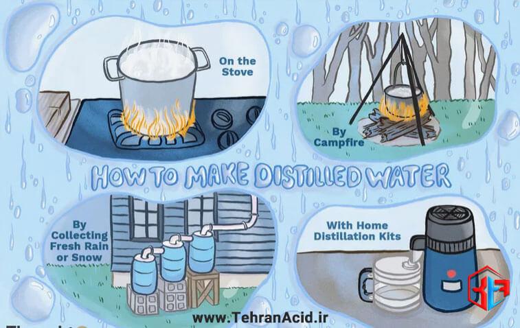 روش های تهیه آب مقطر